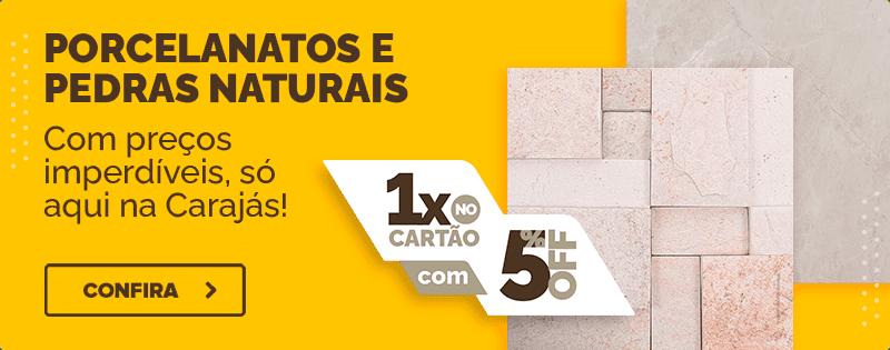 PORCELANATOS E PEDRA NATURAIS - 29 a 11 DE AGOSTO