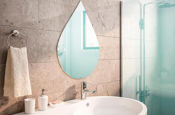 Seu banheiro renovado - ambientado